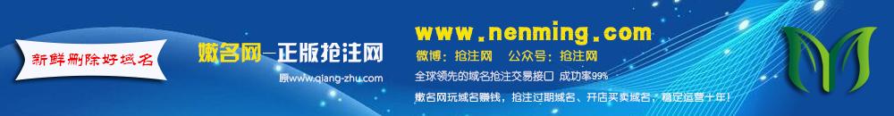嫩名网-域名抢注成功率99%