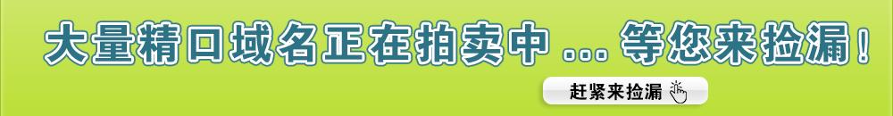 主流米-大量精品域名正在拍卖中,等您来捡漏