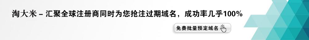 淘大米专注已备 案域名购买